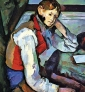 Jeune garçon au gilet rouge de Paul Cézanne via Wikimedia Commons