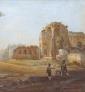 Vue du forum de Rome par Rudolf Wiegmann via Wikimedia Commons