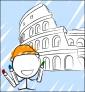 Illustration de couverture Je colorie Rome