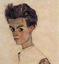 Auto-portrait d'Egon Schiele via Wikimedia Commons