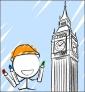 Illustration de couverture Je colorie Londres