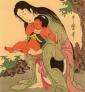 Kintaro et Yama-Uba par Utamaro