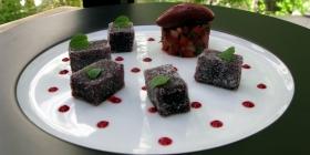 Pâte de fruits Cassis Violette par l'Atelier Guy Martin