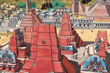 Les Mayas dans les Voyages d'Alix, de J. Martin et J. Torton