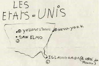 La carte de notre voyage