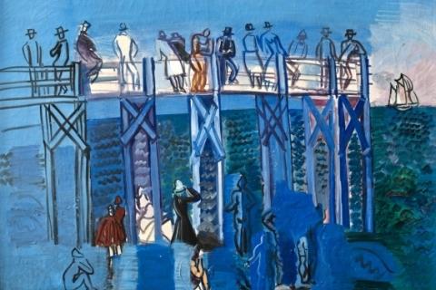 L'Estacade et la Plage du Havre par Raoul Dufy