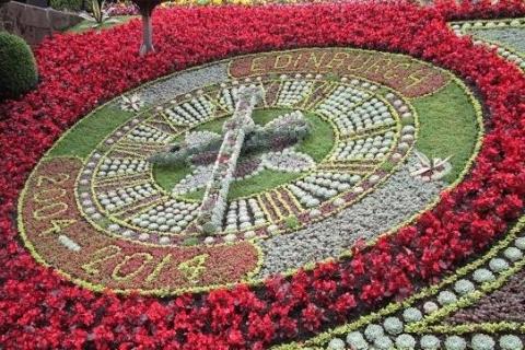 L'horloge fleurie d'Edimbourg