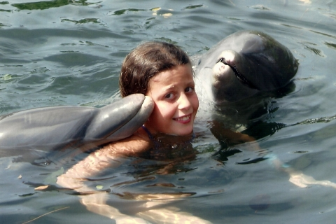 Moi avec les dauphins