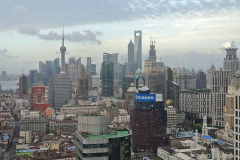 Maquette des buildings de Shanghai depuis la Perle de l'Orient