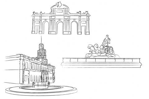 Monuments célèbres Madrid