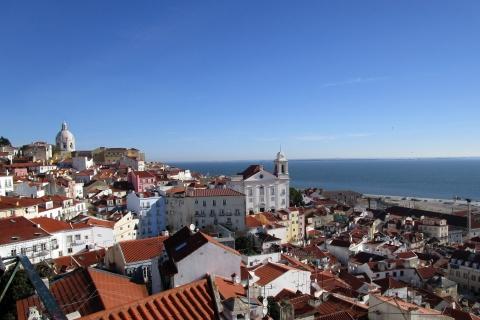 Les hauteurs de Lisbonne depuis le Mirador de Santa Luzia
