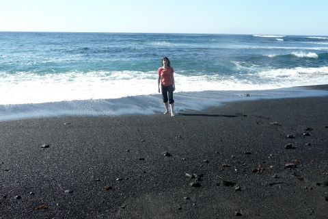 Plage de sable noir à Lanzarote