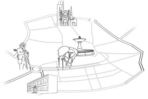 Plan du centre-ville d'Aix-en-Provence