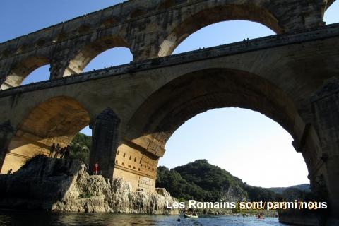 Arrivée sur l'aqueduc