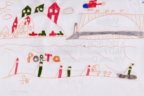 Le pont Dom-Luis  dessiné par Leo