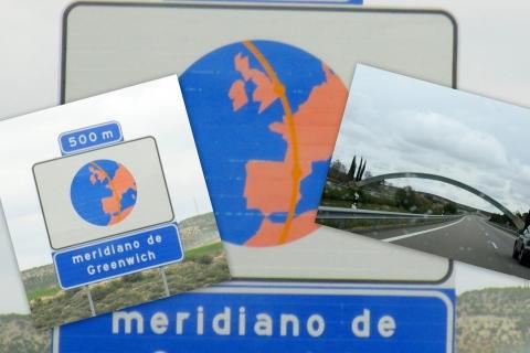 Le méridien de Greenwich près de Saragosse