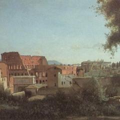 Colisée et Jardins Farnese par Jean Baptiste Corot via Wikimedia Commons