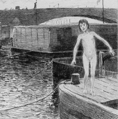 Le gamin de Paris à partir d'une illustration de P.G Jeanniot via Pontauchange.com