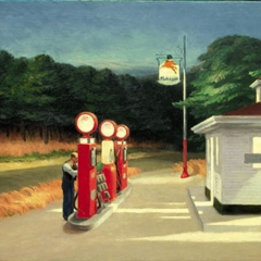 """A partir de """"Gas"""" par Edward Hopper via Wikimedia Commons"""