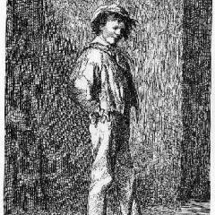 Gavroche à partir d'une illustration de G. Brion via Pontauchange.com