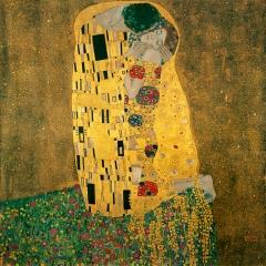Le Baiser de Gustav Klimt via Wikimedia Commons