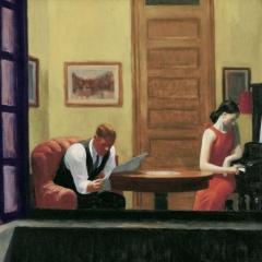 "A partir de ""Room in New-York"" par Edward Hopper via Wikimedia Commons"