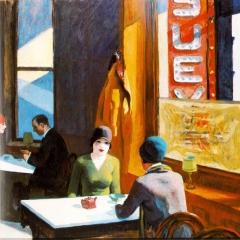 "A partir de ""Chop Suey"" d'Edward Hopper via wikimedia commons"