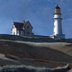 D'après la maison avec le phare par Edward Hopper via Wikimedia Commons