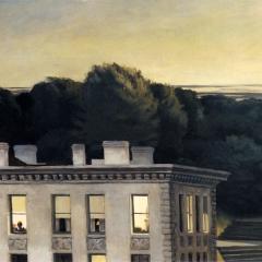"A partir de ""House of dusk"" d'Edward Hopper via Wikimedia Commons"