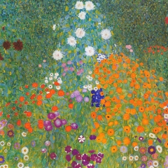 Bauerngarten par Gustav Klimt via Wikimedia Commons