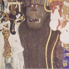 Die feindlichen Gewalten par Gustav Klimt via Wkimedia Commonswc