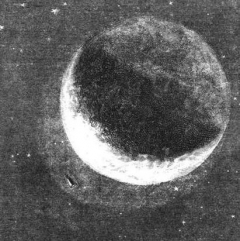 La lune à partir d'une illustration de E. Bayard via Wikimedia Commons