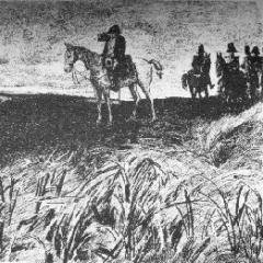 L'empereur Napoléon sur les hauteurs de Rossomme par PG Jeanniot via Pontauchange.com