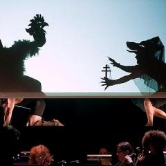 Le Rossignol et autres fables au Festival d'art lyrique 2010 par Philippe Beau, le metteur en ombres du spectacle