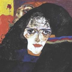 Trauernde Frau par Egon Schiele via Wikimedia Commons