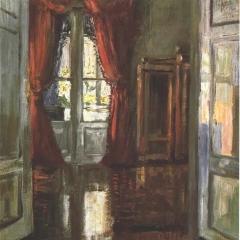 Blick in eine Wohnung par Egon Schiele via Wikimedia Commons