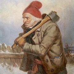 Le bûcheron de Cornelius Krieghoff via Wikimedia Commons