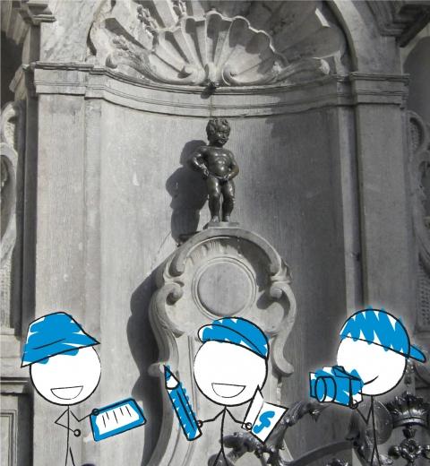 Illustration de couverture Découvrir Bruxelles en famille