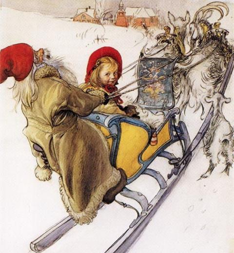 A partir d'une illustration de Carl Larsson