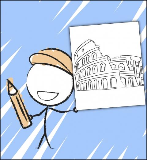 Illustration couverture Je découvre Rome
