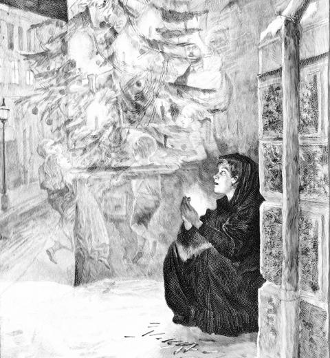 La Petite fille aux allumettes par Tegner via Wikimedia Commons