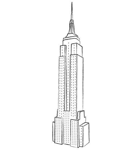 Empire State Building Colorie New York Par Equipe