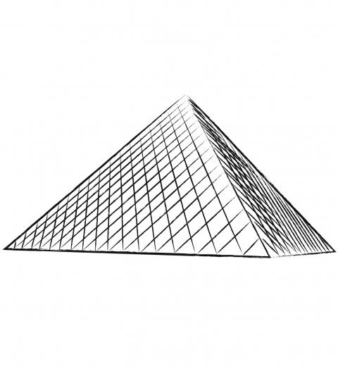 La pyramide du louvre je colorie paris par equipe - Dessin de pyramide ...